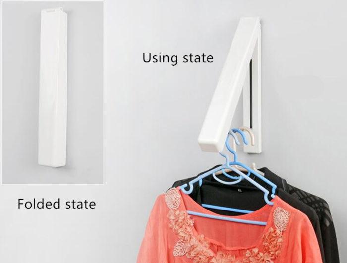 מתלה בגדים נצמד על כל קיר