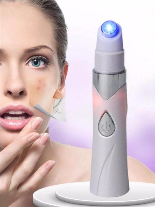 מכשיר אולטרה סגול לטיפול ומניעת אקנה ופצעונים