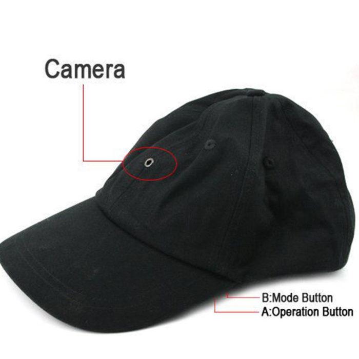 כובע עם מצלמת וידאו נסתרת למעקב