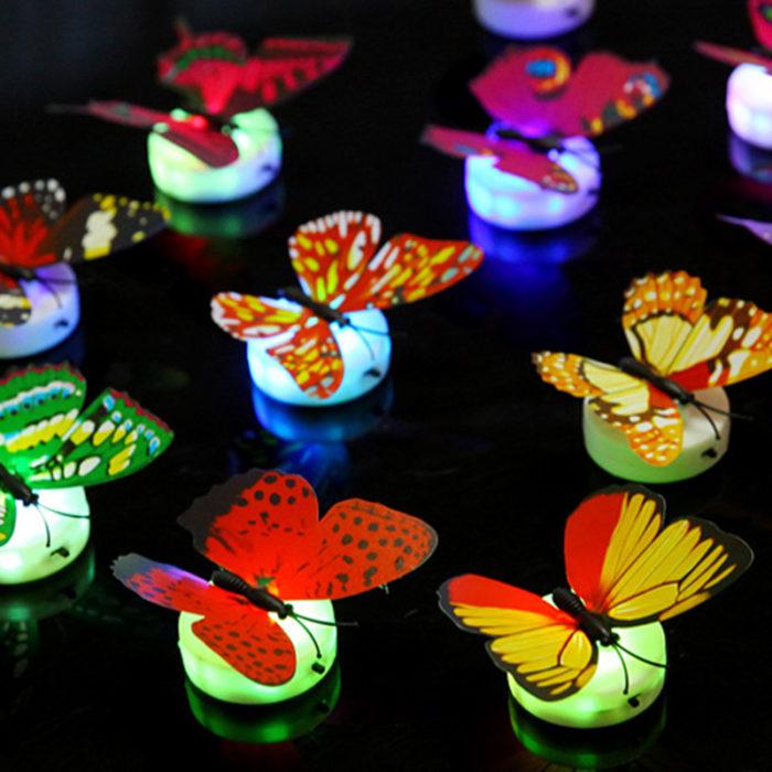 5 מנורות לילה בצורת פרפרים