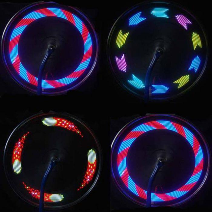 תאורה לגלגל האופניים עם 30 צורות שונות