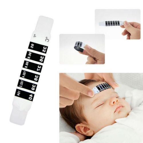 מדחום לתינוק באמצעות הנחה על המצח (סט של 10)