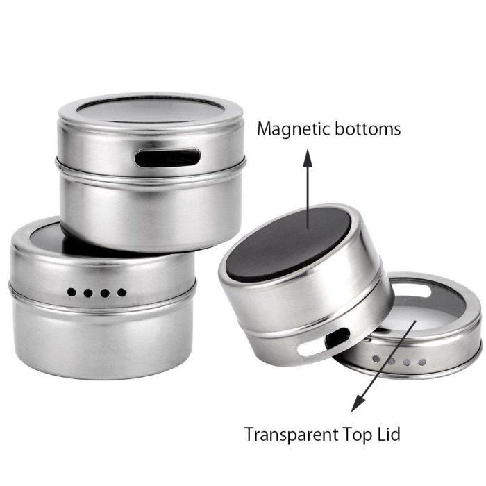צנצנות מגנטיות לאחסון תבלינים במטבח