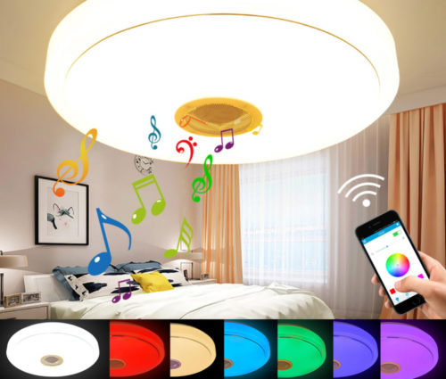 מנורת לד רמקול מחליפה צבעים עם חיבור בלוטות' לנייד