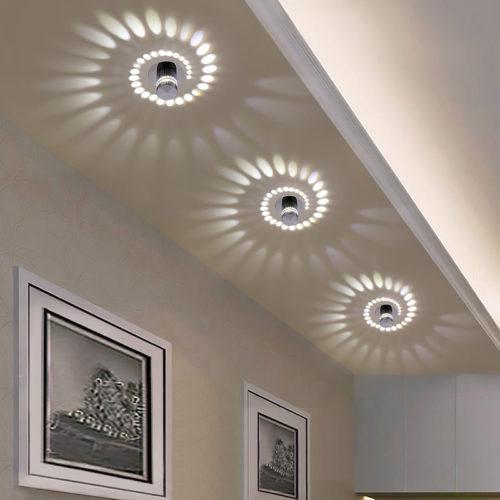 מנורה מחליפת צבעים לתקרה עם שלט
