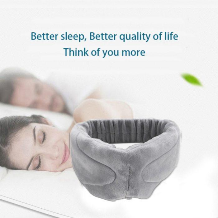 כיסוי עיניים לשינה נעימה עם אוזניות בלוטות' מובנות