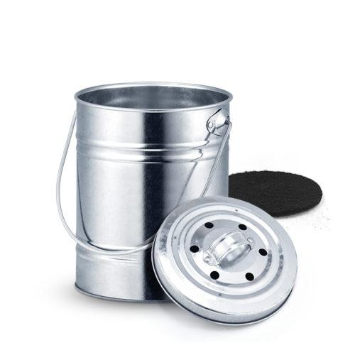 פח 3 ליטר ההופך את הזבל האורגני בבית לדשן