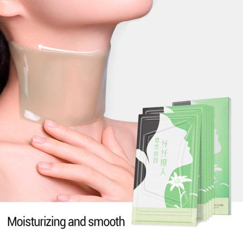 מסכות נגד קמטים לעור הצוואר (מארז 5 יחידות)