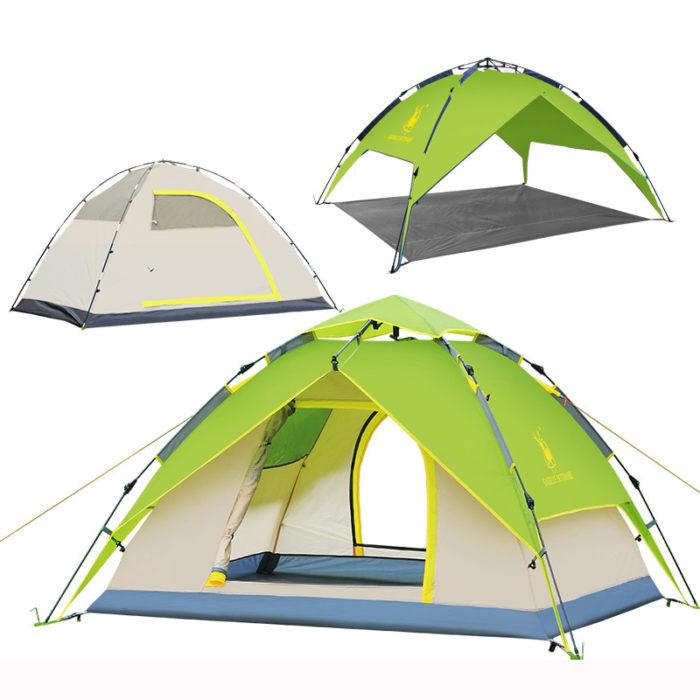 אוהל משולב צילייה ל-4 אנשים נפתח ברגע