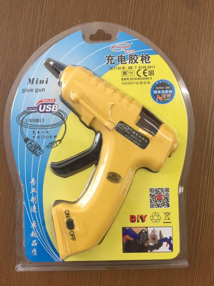 אקדח דבק חם נטען באמצעות USB