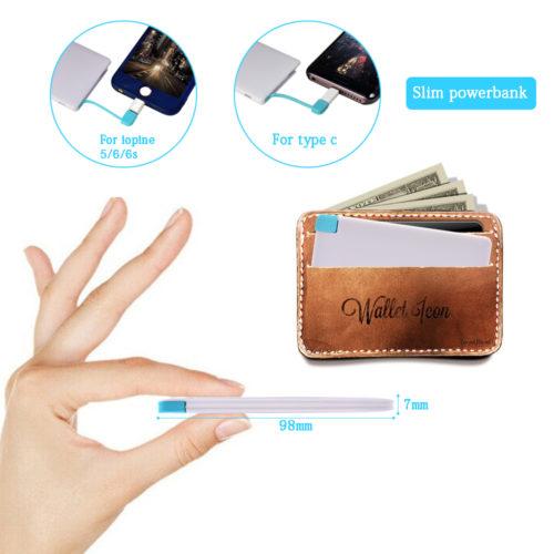 סוללה ניידת דקה בגודל כרטיס שנכנסת לכל ארנק
