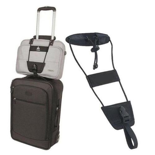 רצועה להחזקת תיקי יד על המזוודה באופן נוח