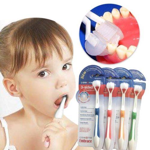 מברשת שיניים לילדים לצחצוח תלת כיווני ללא מאמץ