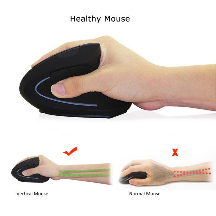 עכבר אלחוטי ארגונומי לאחיזה נכונה ושימוש נוח