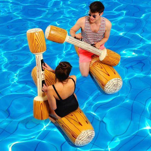 משחק הפלות מתנפח לבריכה
