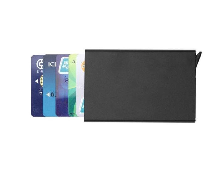 ארנק אלומיניום לאחסון כרטיסים וכסף בצורה נוחה ובטוחה