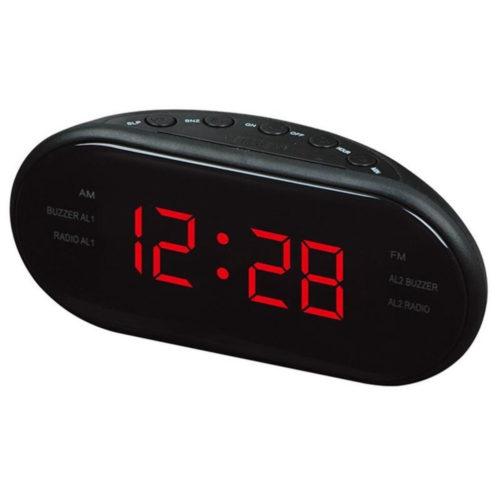 שעון מעורר שולחני עם רדיו מובנה