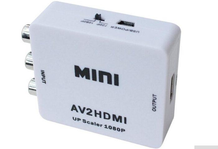 ממיר חיבור AV אנלוגי (בננה / RCA) ל-HDMI