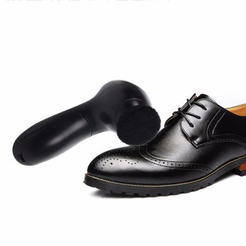 מברשת חשמלית לניקוי וצביעת נעליים ומוצרי עור בקלות