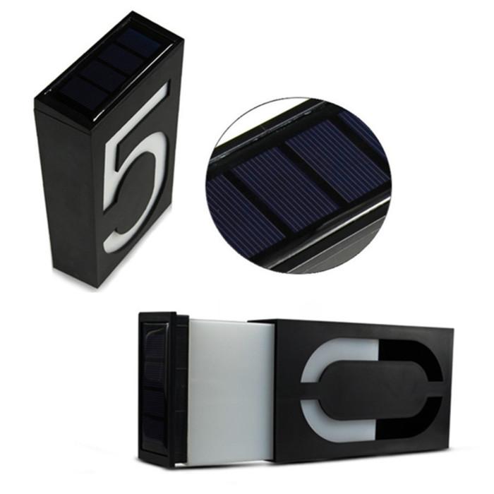פלטות סולאריות עם אור לד נטען להצגת מספר הבית