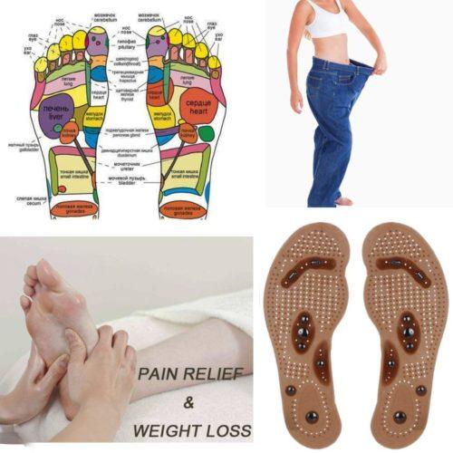 מדרסים עם כדורים מגנטיים לעיסוי כפות הרגליים והרזייה