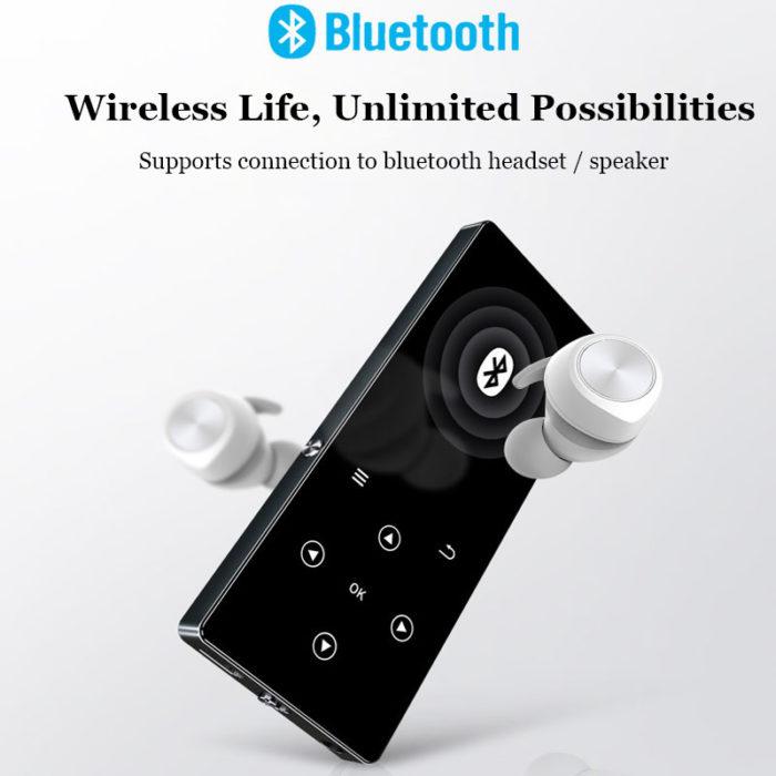 נגן מוזיקה 8GB עם מסך מגע וחיבור בלוטות' לאוזניות