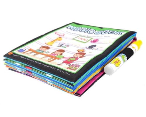 ספר קסם צביעה לילדים באמצעות עט המתמלא במים בלבד למניעת לכלוך