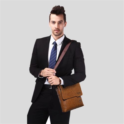 תיק צד עסקי מעור לגברים עם ארנק מותאם במתנה