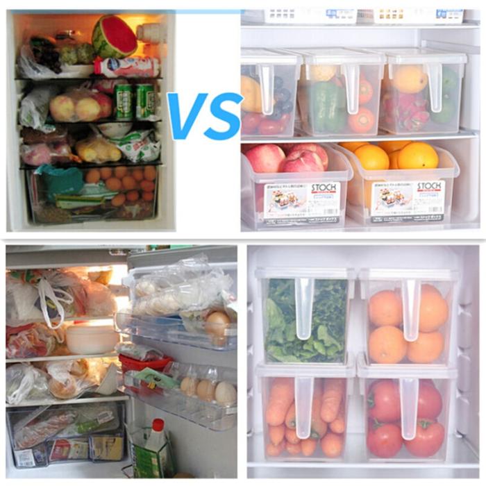 קופסה ניידת לאחסון פירות וירקות גם במקרר לסדר וארגון ושמירה על טריות