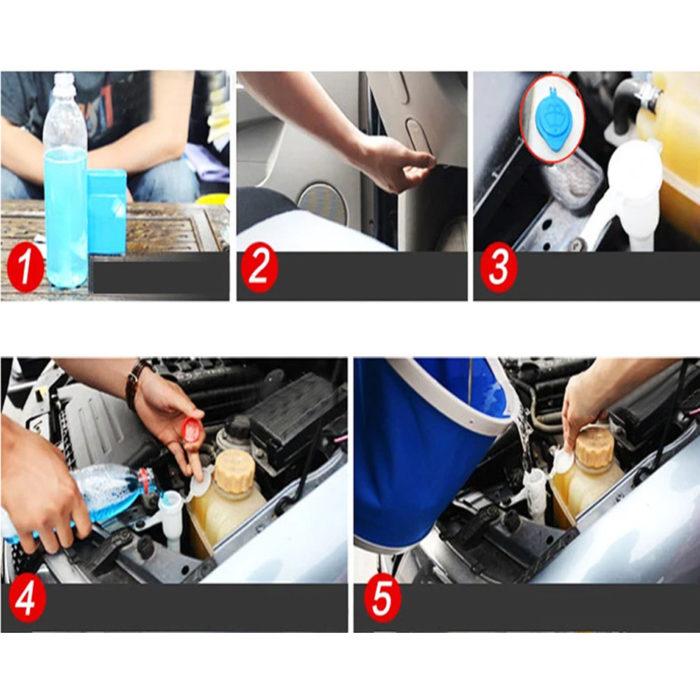 5 טבליות ההופכות את נוזל ניקוי השמשות לעוצמתי ומגן מפני לכלוך