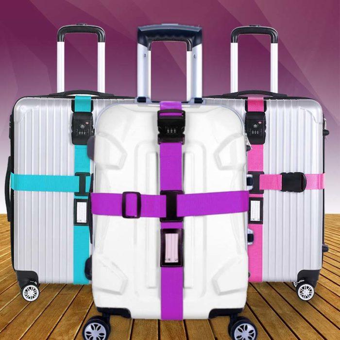 רצועה מקצועית לנעילת מזוודות עם מנעול