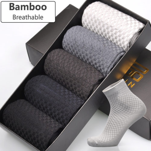 גרביים נושמות עשויות במבוק בעלות יכולת ספיגה גבוהה - סט 5 זוגות