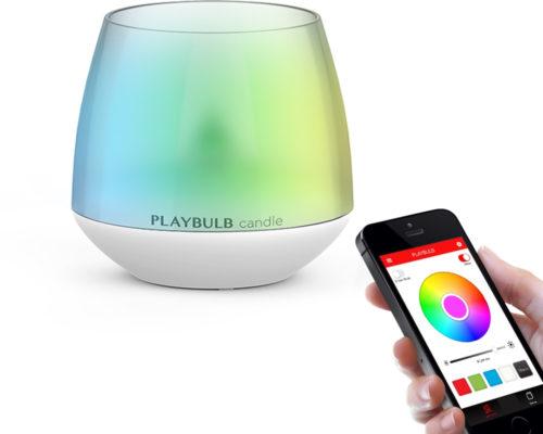 מנורת נר חשמלית עם מליוני צבעים המשתנים באמצעות אפליקציה