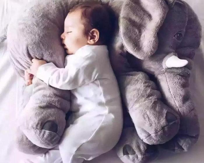 כרית צעצוע רכה בצורת פיל לילדים ותינוקות