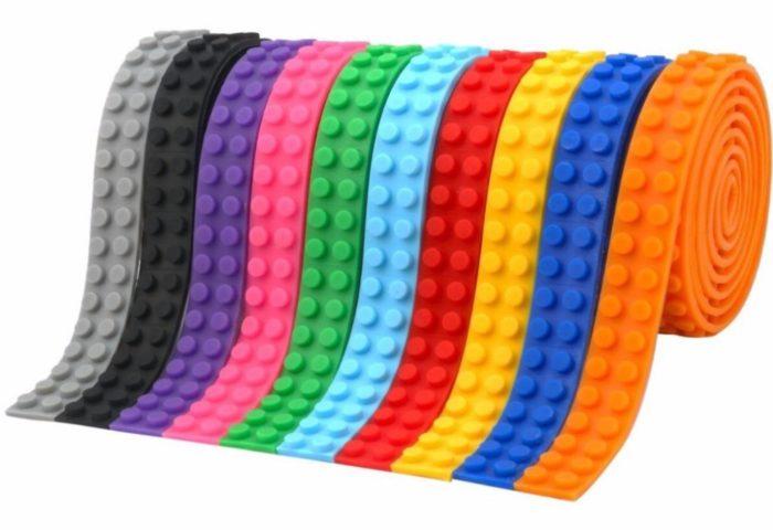 רצועות לגו ניתנות לגזירה בצבעים שונים