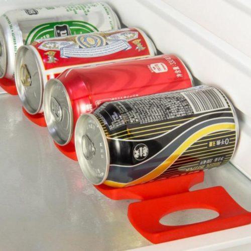 ארגונית סיליקון לפחיות במקרר