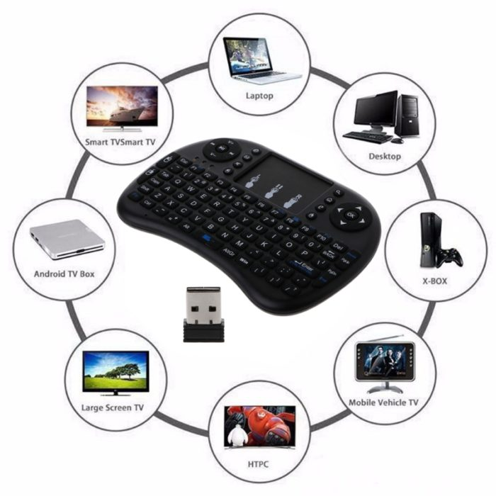 מקלדת אלחוטית עם טאצ' פד לשליטה במחשבים, טלויזיות חכמות, קונסולות ועוד