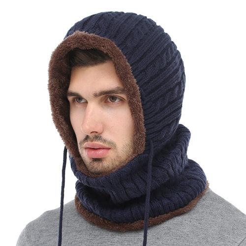 חמצוואר משולב כובע מחמם לראש
