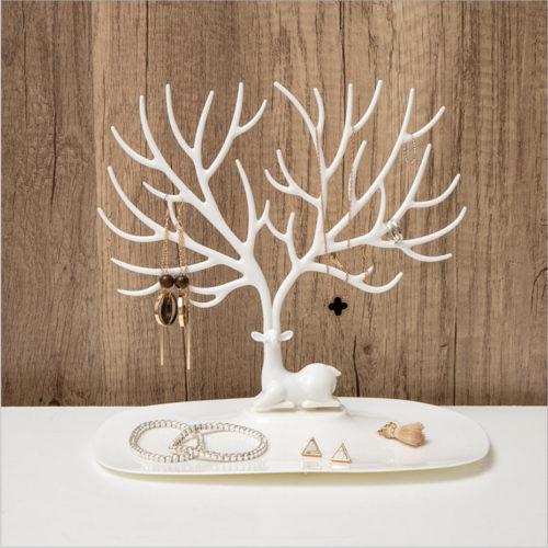 מעמד תכשיטים בצורת עץ דקורטיבי