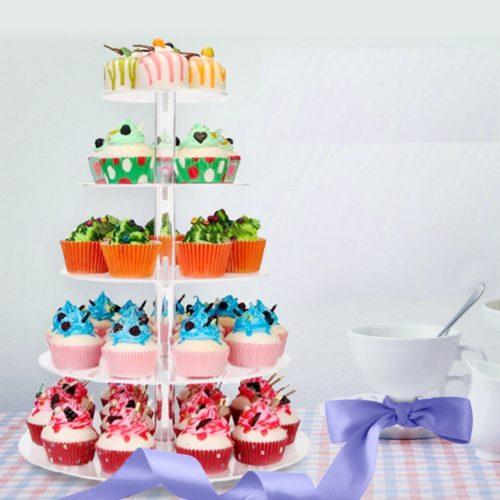 מגש רב קומות להגשת עוגות, קפקייקס ועוד
