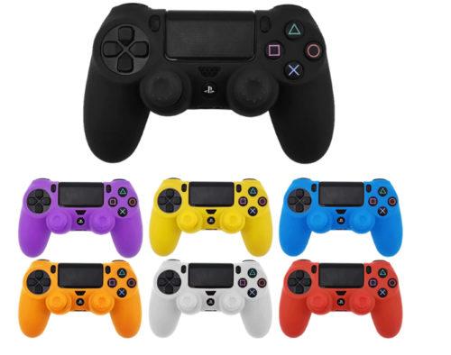 כיסויים מגני סיליקון לשלטים של PS4 במגוון צבעים