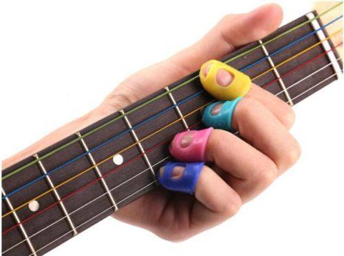 4 מגני אצבעות לניגון על גיטרה ללא כאבים ופצעים