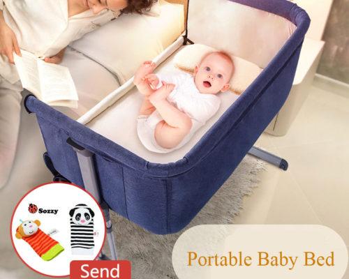 מיטת תינוק מתכווננת הנצמדת למיטת ההורים