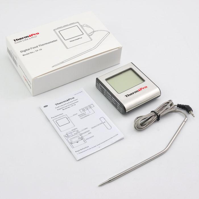 מכשיר מקצועי לבדיקת מידת העשייה של פנים הבשר לפי סוג הבשר בזמן הבישול