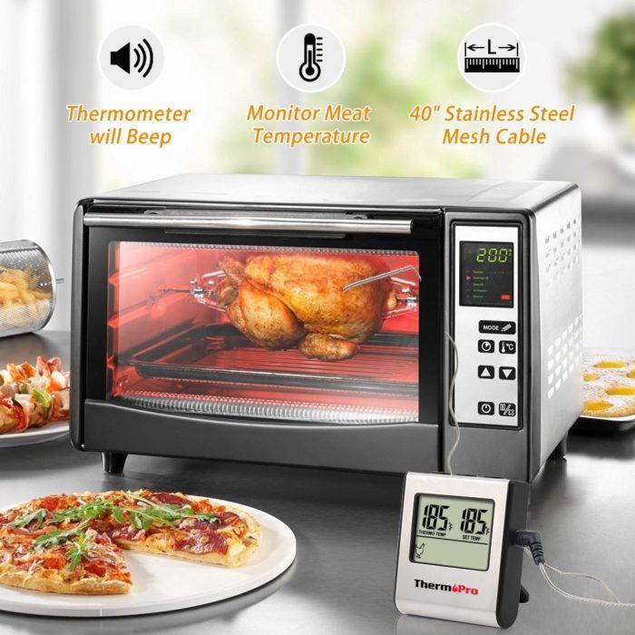 מכשיר מקצועי לבדיקת מידת העשייה של הבשר לפי סוג הבשר בזמן הבישול