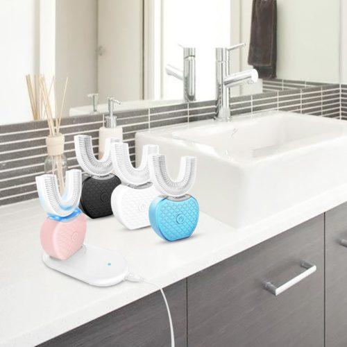 מברשת שיניים נטענת 360° לנקיון יסודי של השיניים ושימוש עם ידיים חופשיות