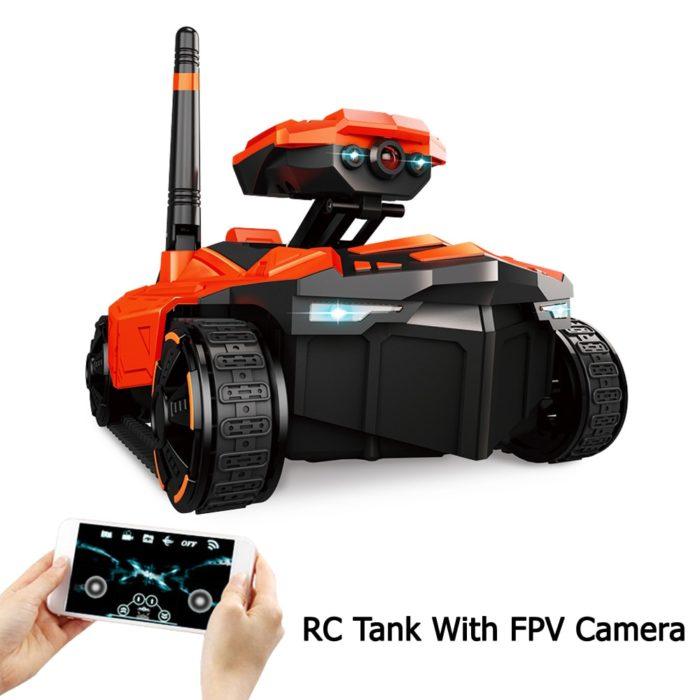 טנק הנשלט מרחוק באמצעות Wi-Fi עם מצלמה מובנית