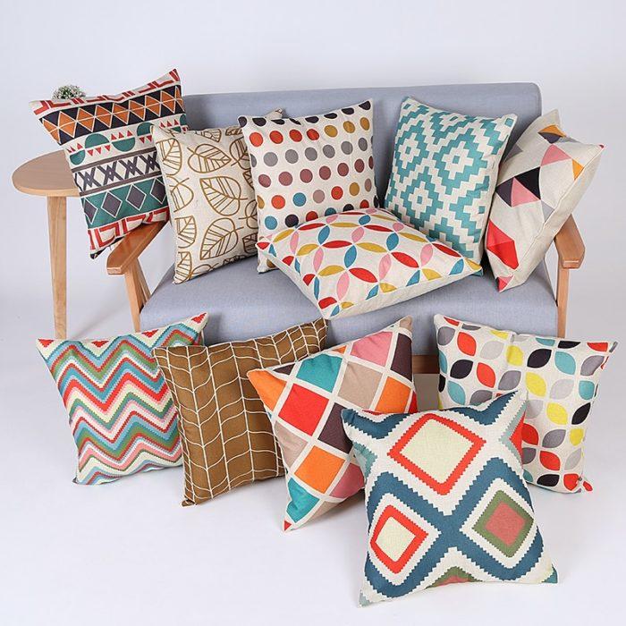 מגוון כיסויים לכריות ספה מרובעות