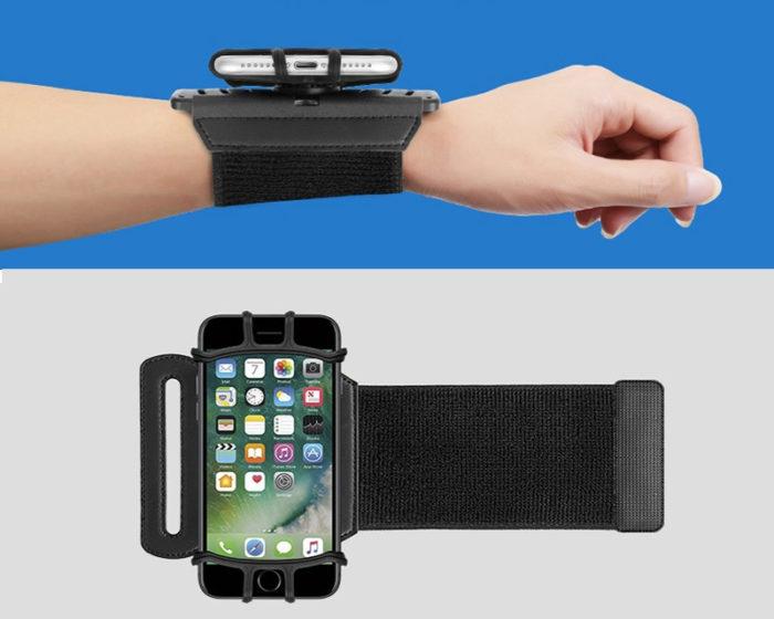 רצועה להחזקה הנייד על זרוע היד בזמן ריצה עם סיבוב 180°