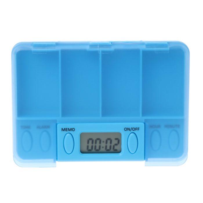קופסה ניידת לאחסון תרופות עם התראה לתזכורת